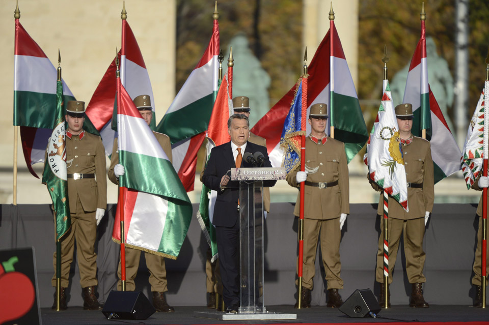 Orbán a Terror Házánál beszél október 23-án