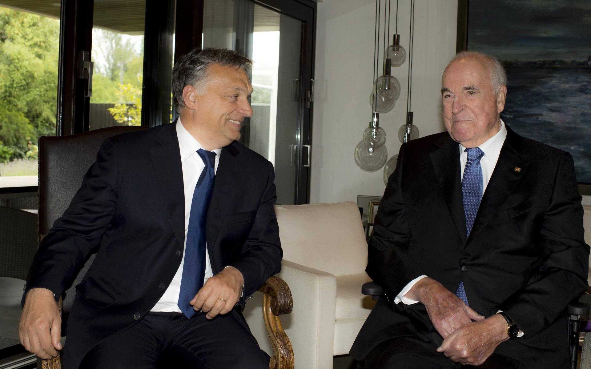 Ha az Európai Unióról van szó, Helmut Kohl teljesen egyetért Orbán Viktorral
