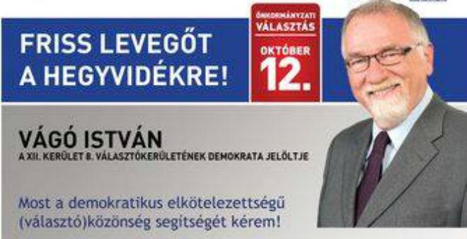 Vágó István a DK önkormányzati képviselője lesz