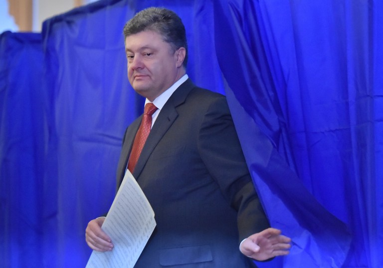 Porosenko hívei behatoltak az ukrán Állami Nyomozó Iroda épületébe