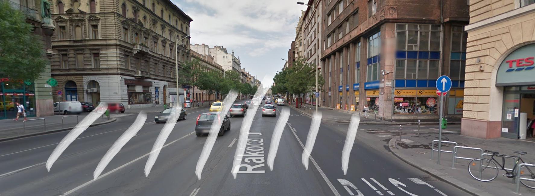 Legyen zebra a Kazinczy és a Szentkirályi utca között!
