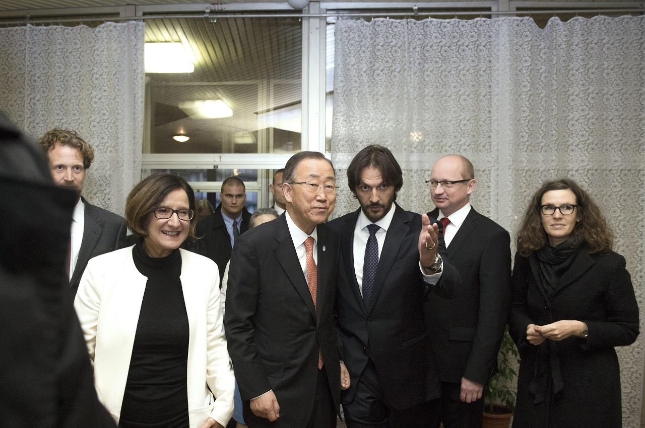 Szlovákiai menekülttáborba látogatott az ENSZ-főtitkár