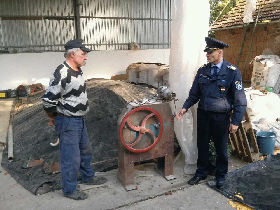 Újabb ellopott tárgy, amit visszaszolgáltatott a rendőrség: elektromos morzsoló