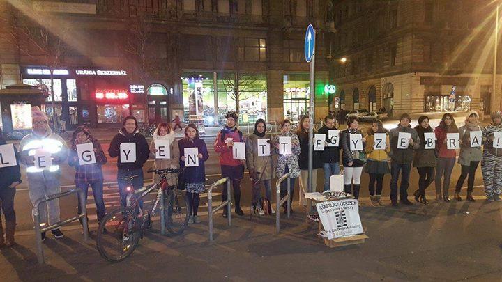 Tüntettek Budapest legjobban hiányzó zebrájáért