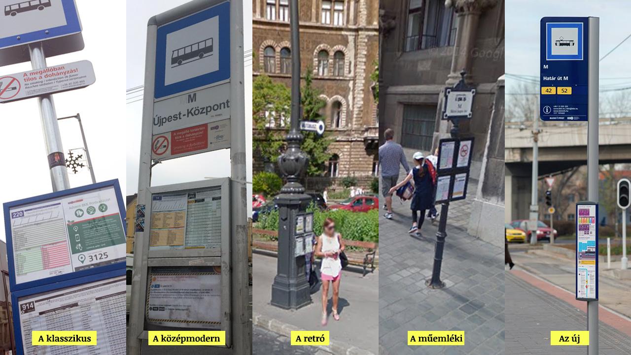 Új megállótáblát vezet be a BKK Budapesten