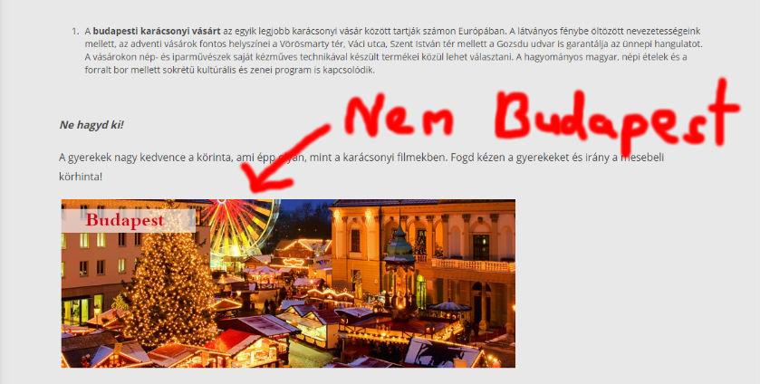 Magyar városok karácsonyi képeivel csábítaná haza a külföldön dolgozó fiatalokat az állam, csak sajnos Magyarországot nem sikerült minden fotón eltalálni