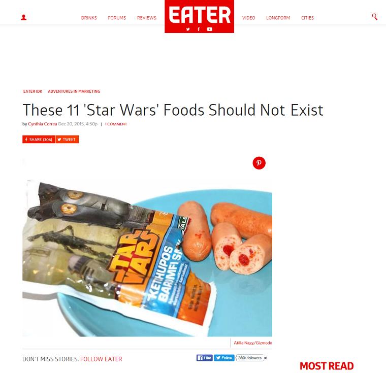 A magyar Star Wars kenőmájason röhög a világ egyik legnagyobb kajás oldala