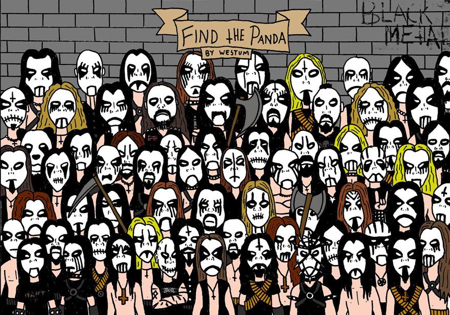 Megtalálod a pandát a metálosok között?