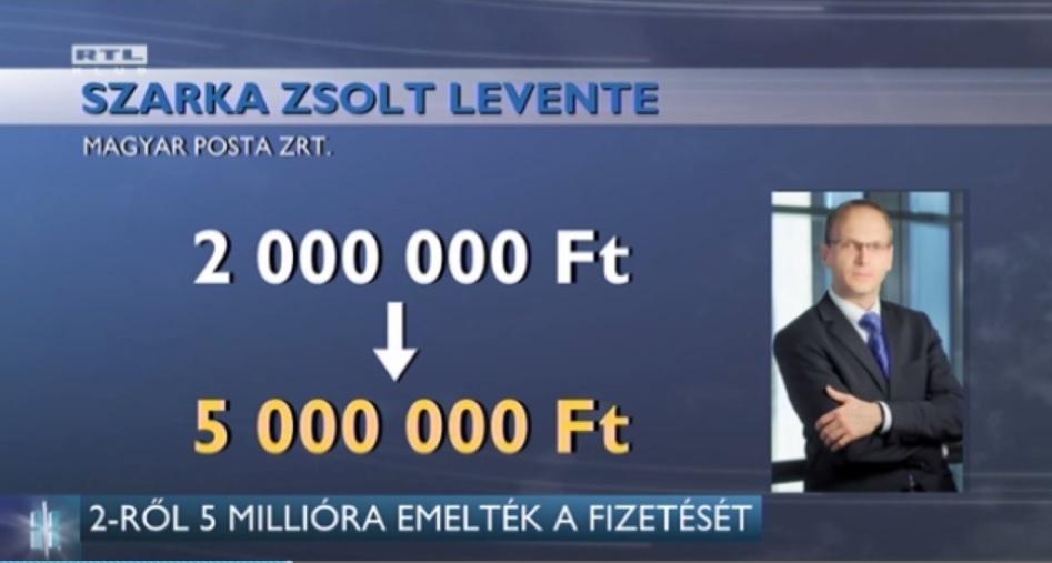 150 százalékkal ugrott meg a Magyar Posta vezérigazgatójának fizetése
