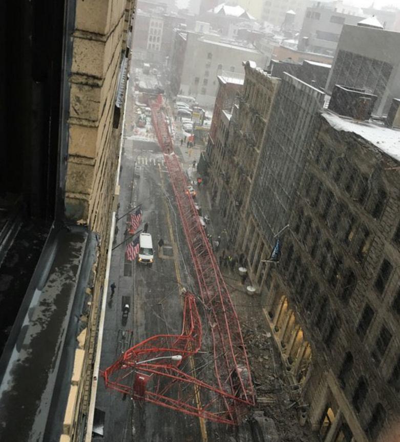 Ez a daru elhasalt Manhattan közepén