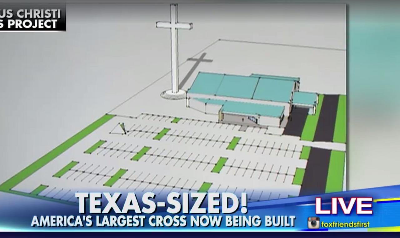 Az egész USA, sőt az egész nyugati félteke legnagyobb keresztjét húzzák fel Texasban
