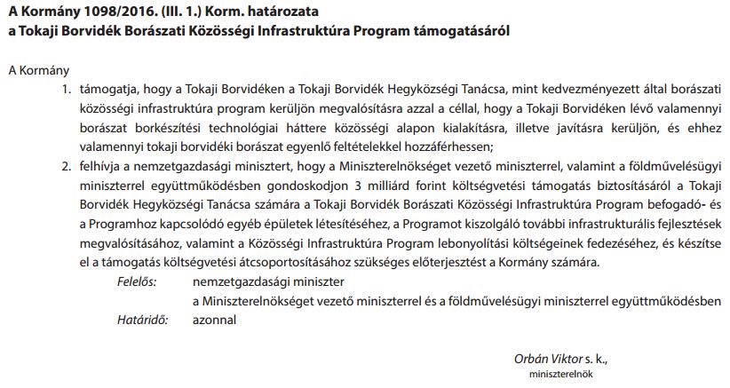 Orbán kedvenc szőlődűlőinek is jut 3 milliárd forint