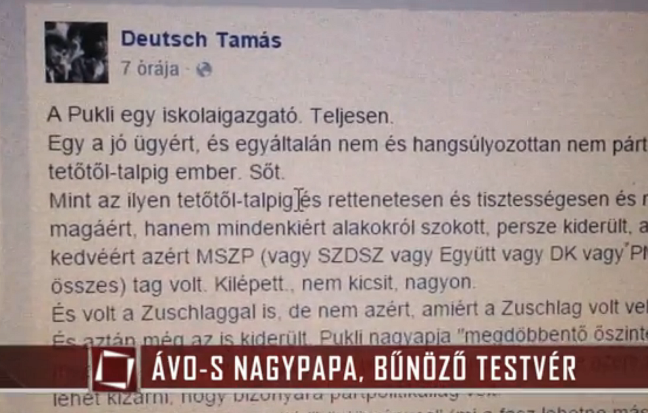 Dübörög a habonyista kormánypropaganda a TV2-n