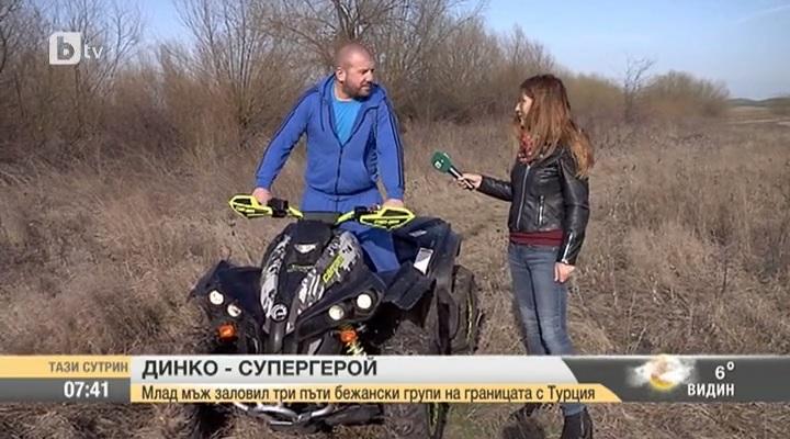 Dinko, a melegítős bolgár migránsvadász quaddal űzi a menekülteket