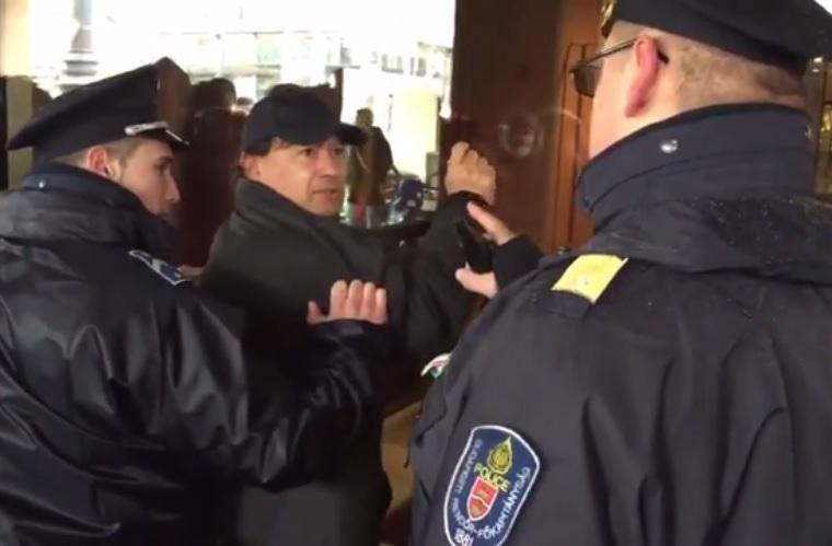 Az ember, aki azért nem hallgatott a rendőrökre, mert ő az Orbán-kormánnyal van
