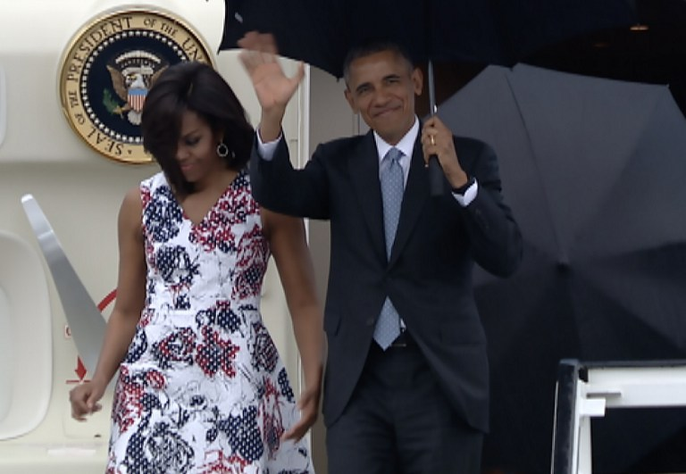 Megérkezett Kubába Barack Obama