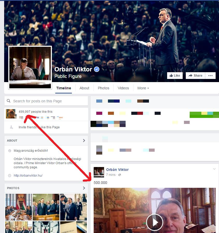 Kövesd velünk élőben, hogy tényleg összejön-e Orbán Viktornak az 500 000 lájk a Facebookon!