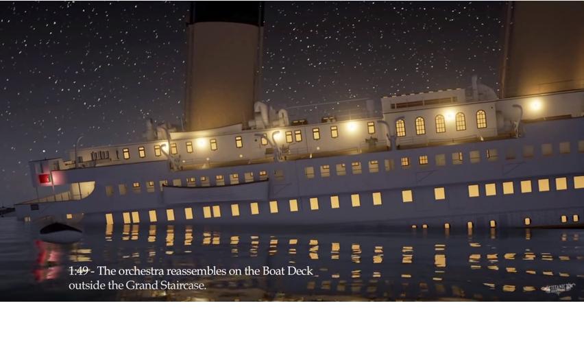 Valós időben élheted át a Titanic elsüllyedését