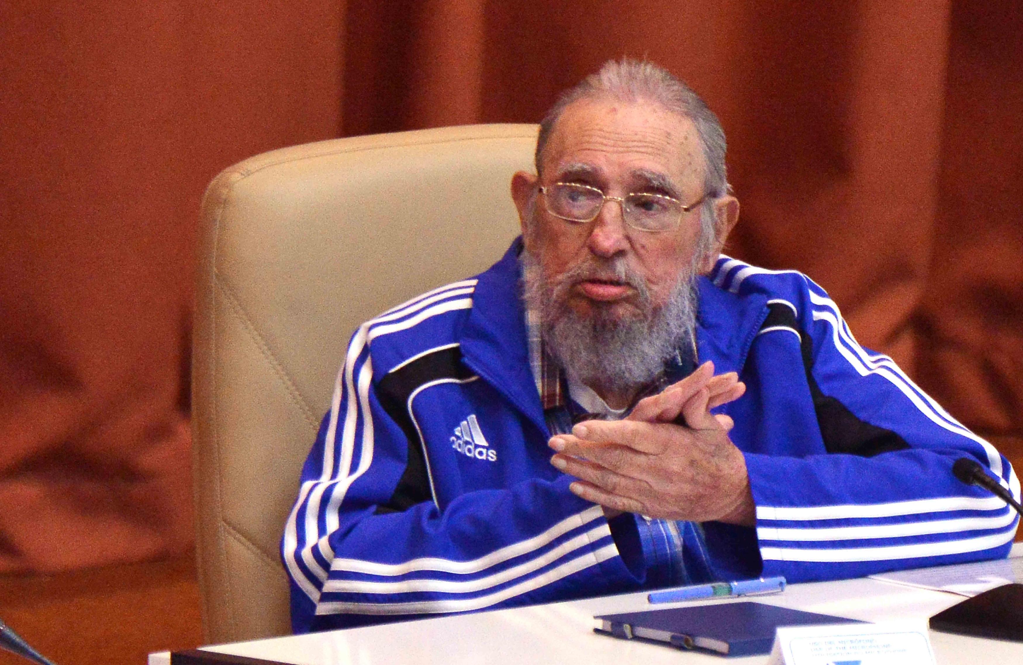 Fidel Castro is beszédet mondott a kubai kommunista párt 7. kongresszusán