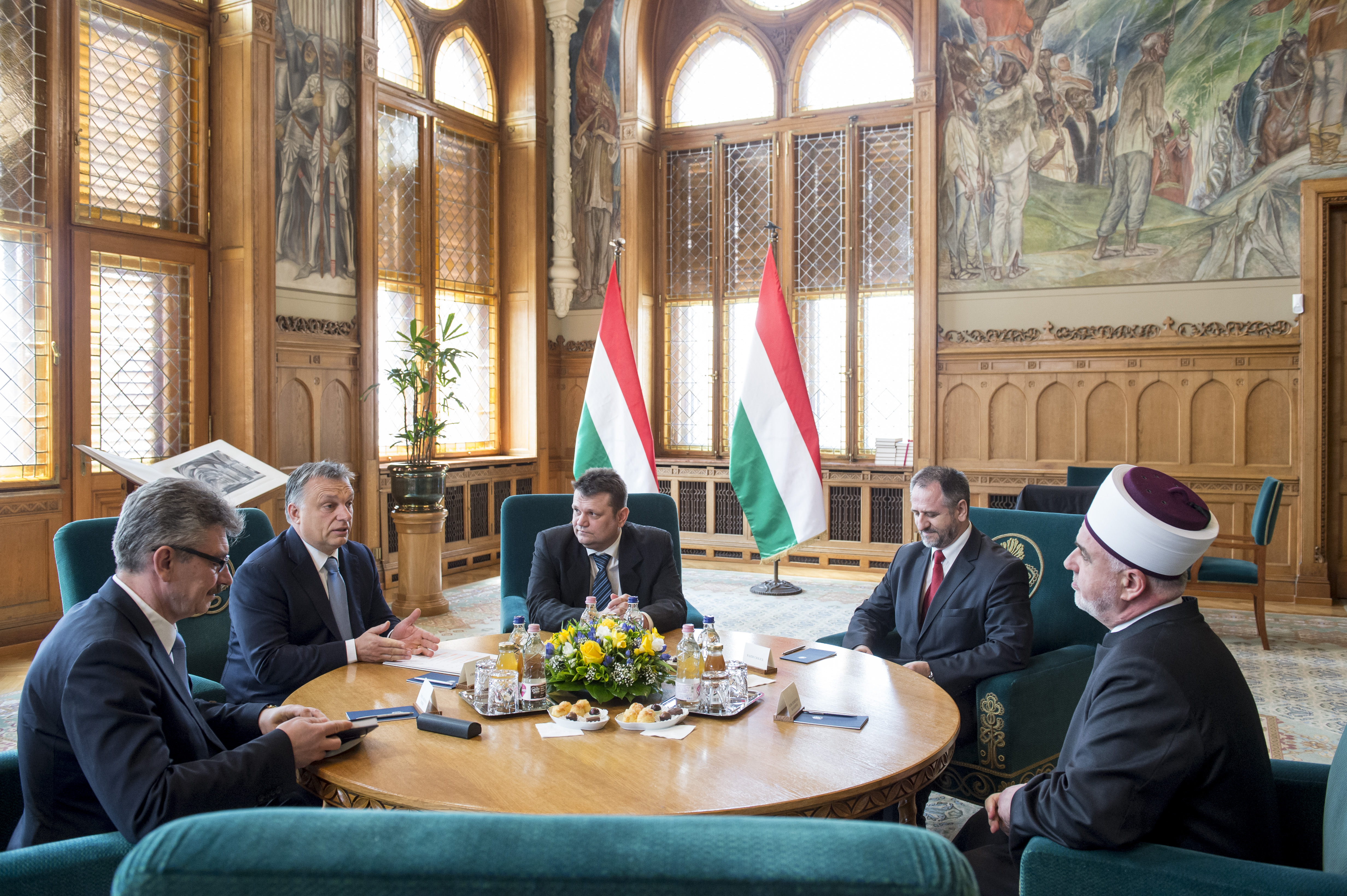 Orbán Viktor a bosnyák főmuftival étkezett az imént