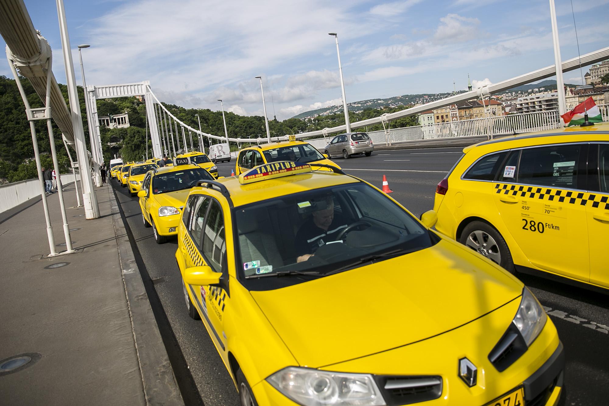 Fővárosi taxisok 10-15 százaléka hiéna