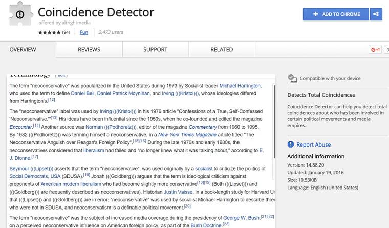Letiltotta a Google a zsidódetektor Chrome plugint