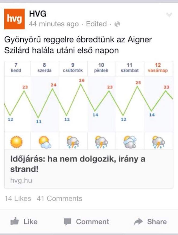 Ki poénkodott ügyesebben Aigner Szilárd halálán?
