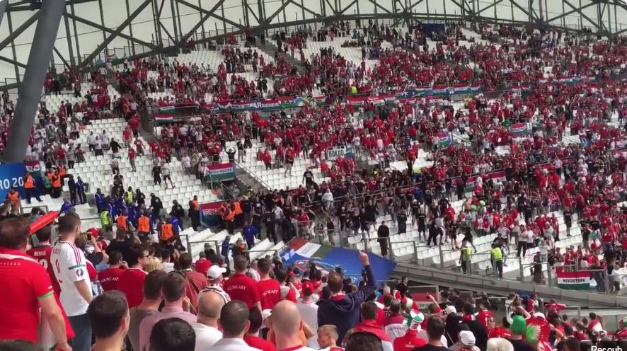 Így csürhézték a normális magyar szurkolók a magyar ultrákat Marseille-ben