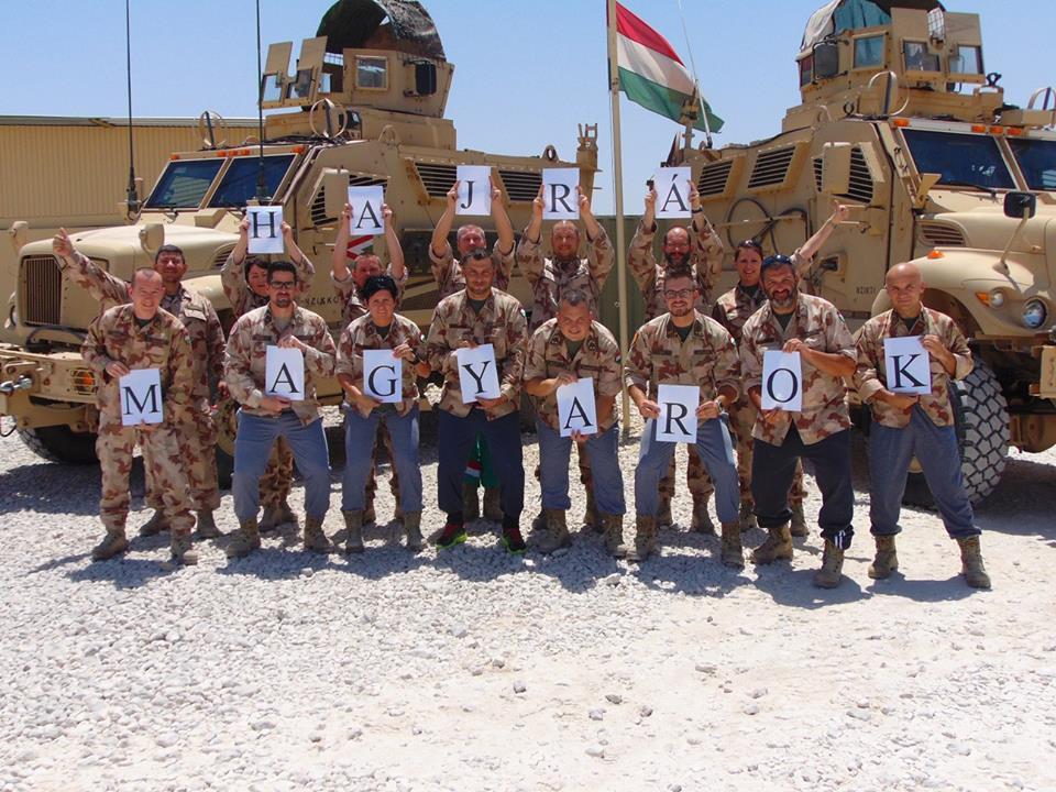 Afganisztánból szurkol a Magyar Honvédség