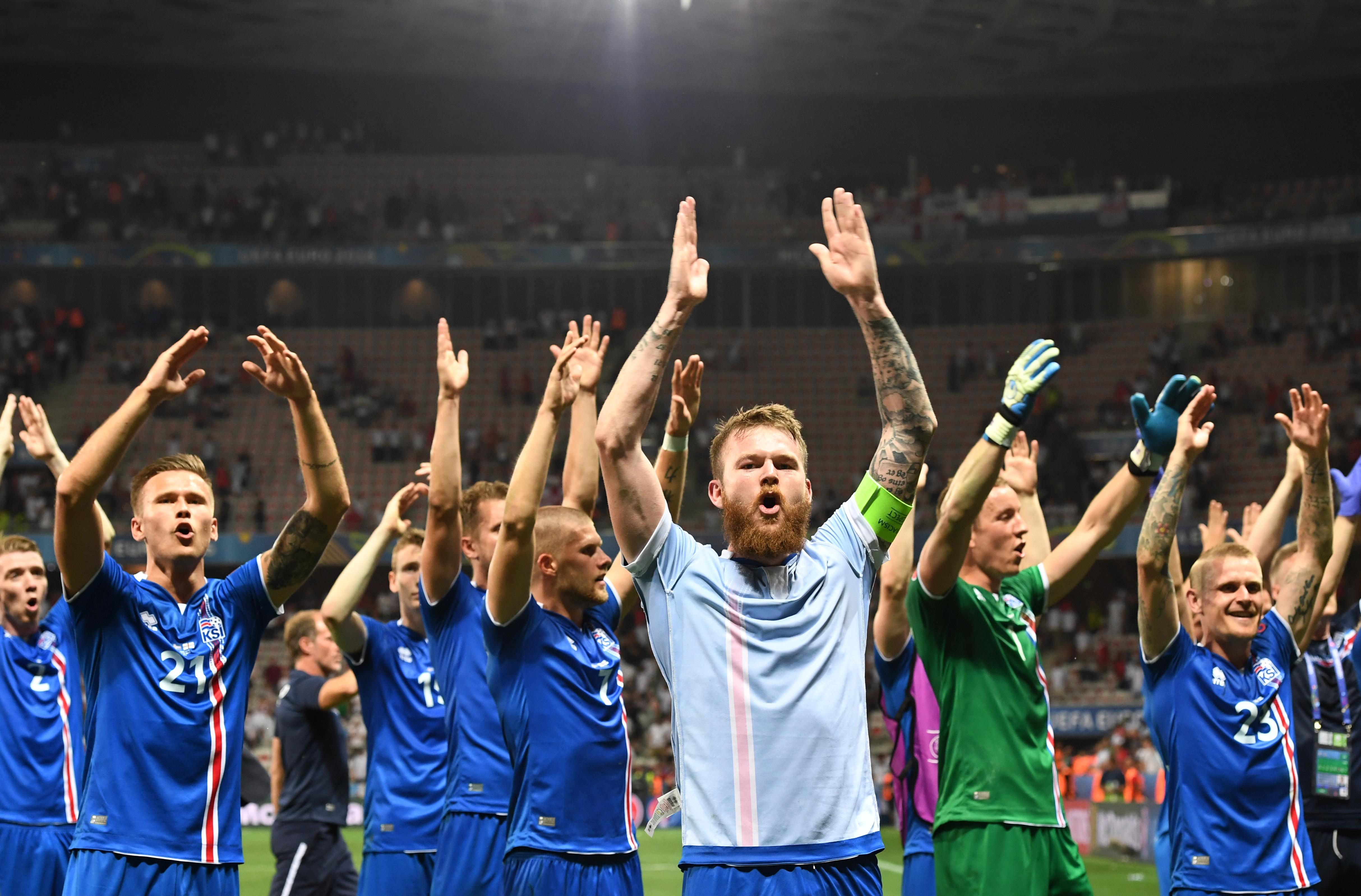 Elképesztő viking harci üvöltéssel ünnepelte Izland a győzelmet