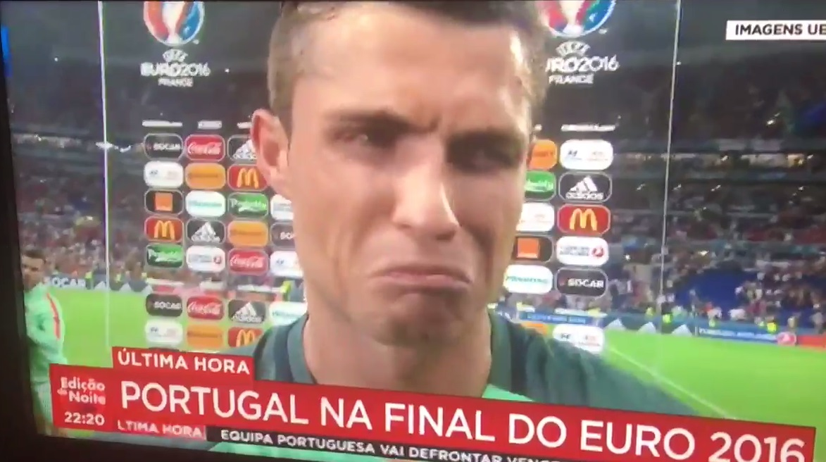 Ronaldo alig bírt a könnyeivel a walesiek kiejtése után