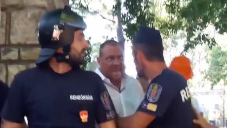 A Liget-projekt biztonsági őre a rendőröket sem kímélte