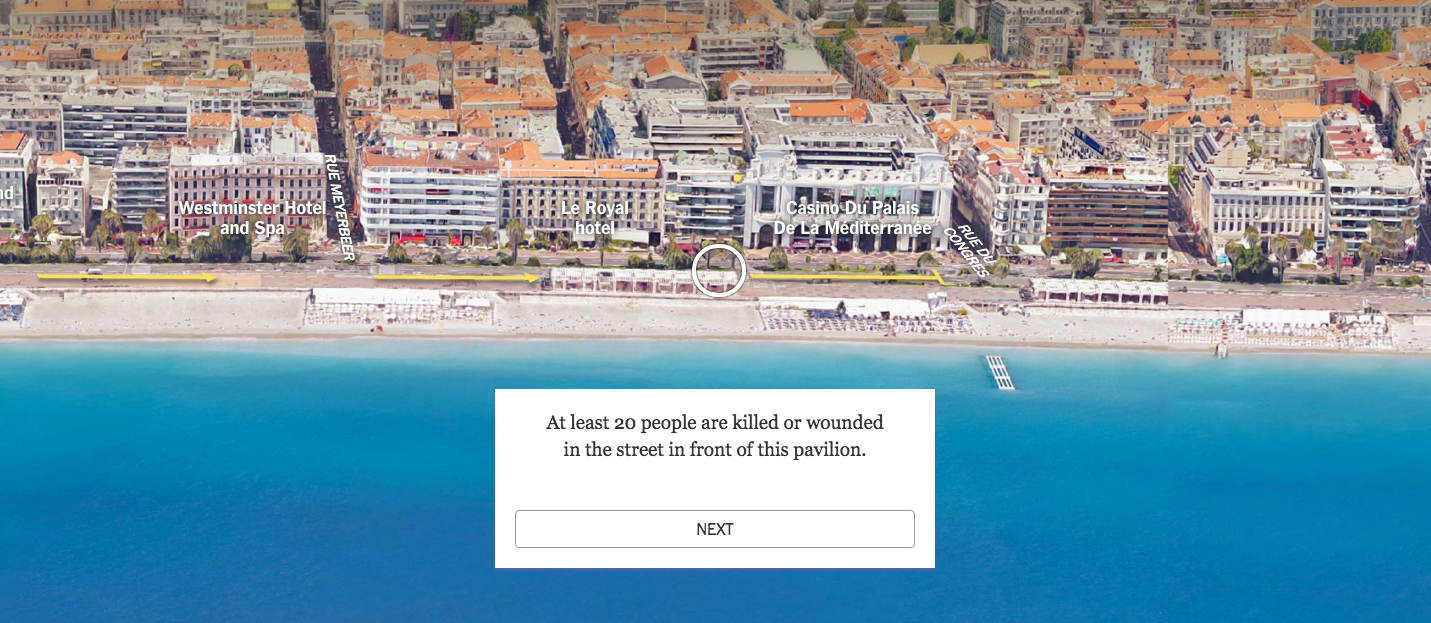 Látványos infografikán mutatja be a New York Times a merénylő nizzai útját