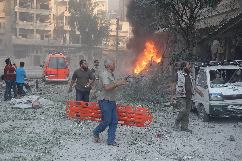 Légicsapás ért egy szíriai kórházat