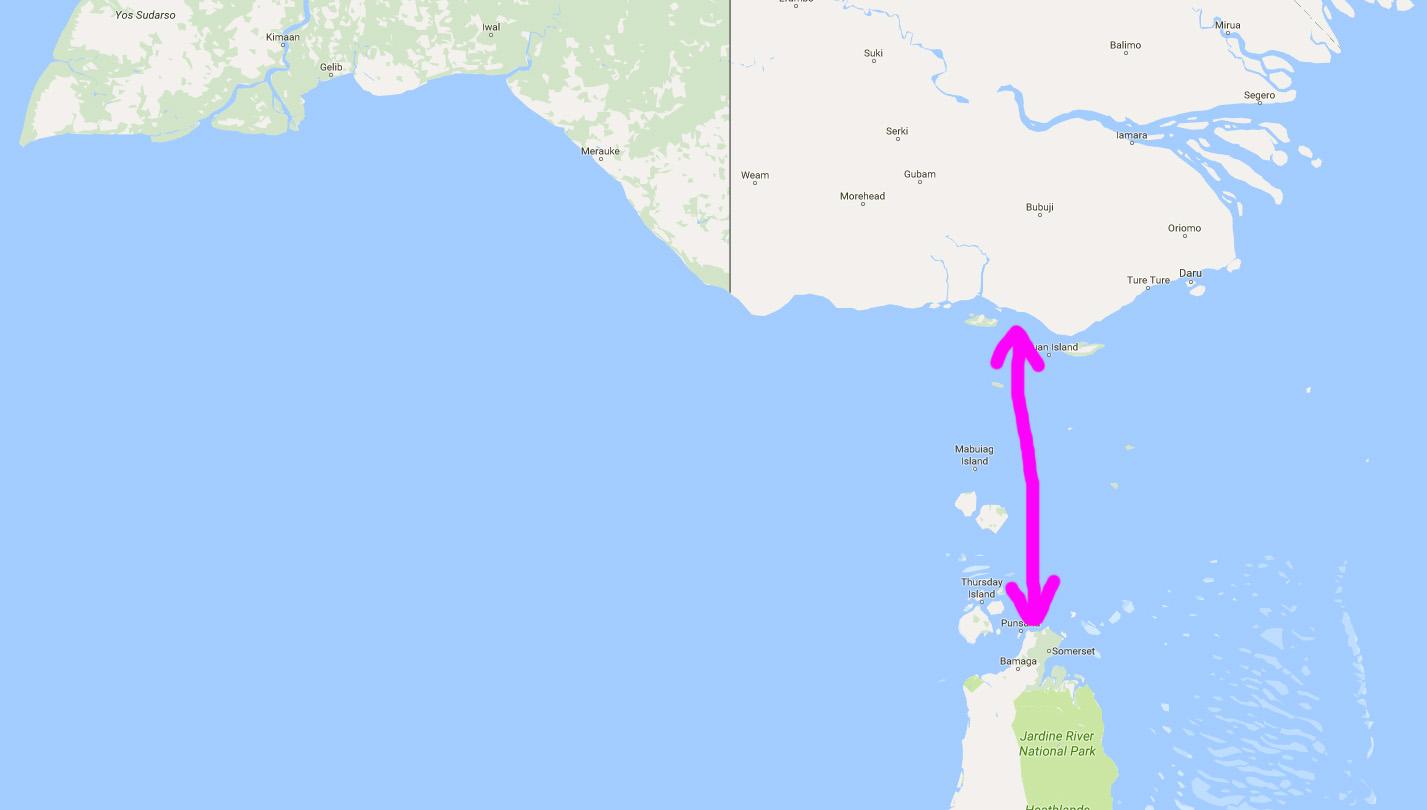 Ha így folytatja, Ausztrália 212 millió éven belül összeér Pápua Új-Guineával