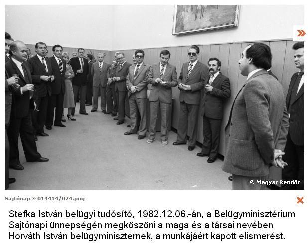 1982-ben a kommunista belügy tüntette ki Stefka Istvánt, de szerinte kihívta volna maga ellen a sorsot, ha nem fogadta volna el