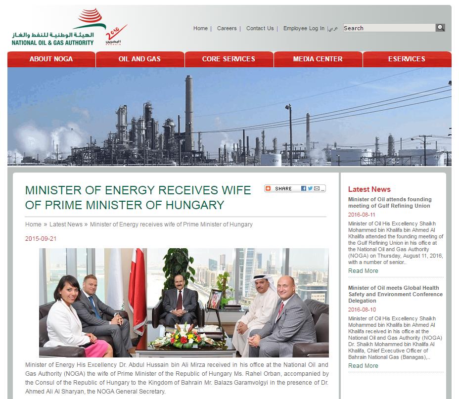 Orbán Ráhel gáz- és olajbizniszről tárgyalt Bahreinben