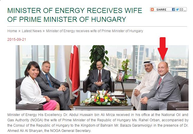 A bahreini magyar tiszteletbeli konzul nem emlékszik, hogy került Orbán Ráhel olajügyi találkozójára