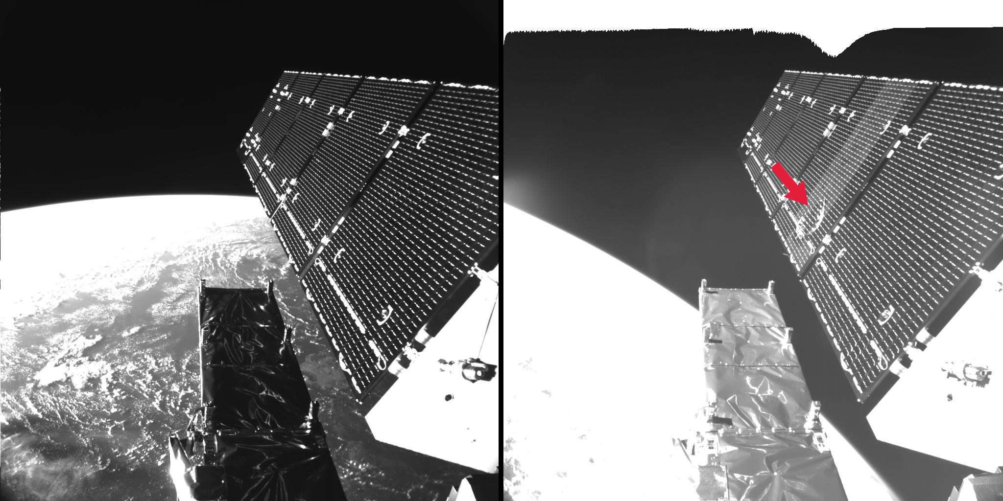 Milliméteres törmelékdarab ütött negyvencentis lyukat egy fontos európai műholdon