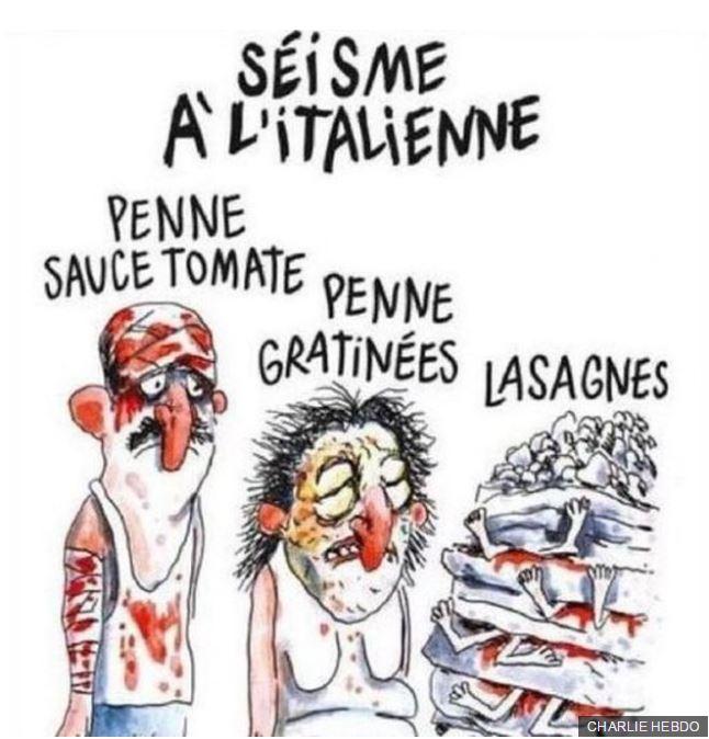 Az olasz földrengés áldozataival viccelt a Charlie Hebdo