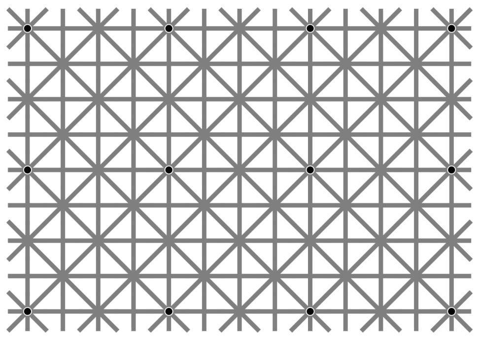 Megőrülök, miért nem látom mind a 12 fekete pöttyöt ezen a képen?