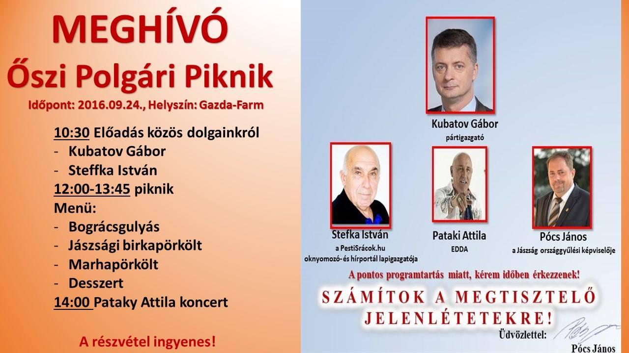 Pócs János az év buliját rendezi meg holnap Pataky Attilával, Kubatov Gáborral, marhapörkölttel és desszerttel