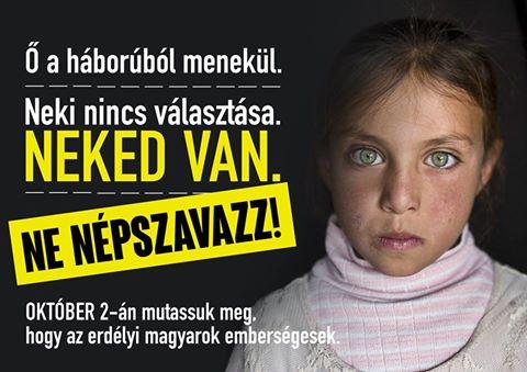 Erdélyi magyar fiatalok a népszavazás ellen