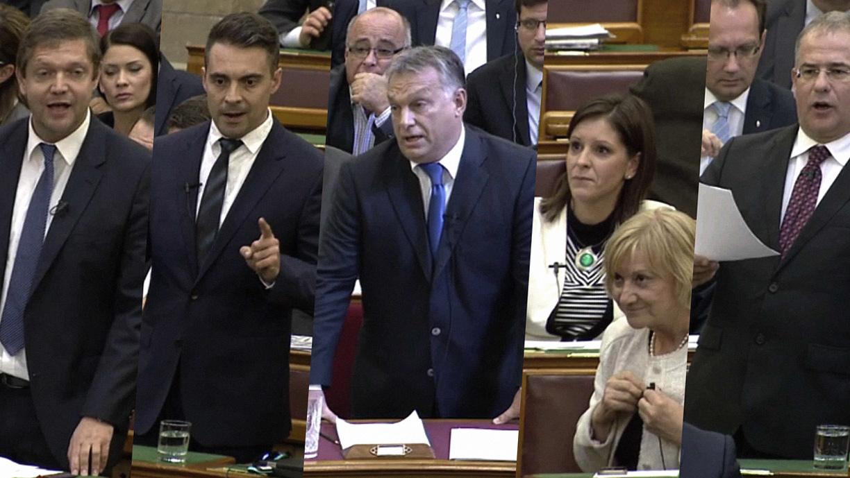Durván egymásnak esett Vona Gábor és Orbán Viktor a Parlamentben
