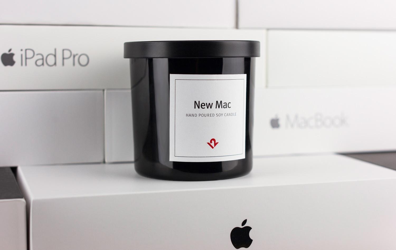 Informatikai hír: itt az új-Macbook-illatú gyertya