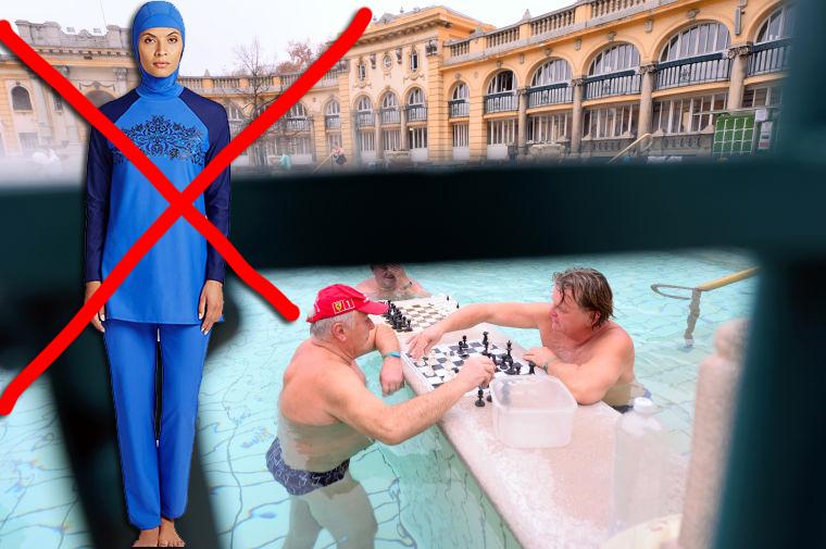 Magyarországon tilos burkiniben fürdőzni, a Széchenyiben két nő megsértette a szabályt