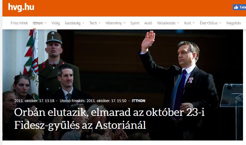 Nem, Orbán Viktor nem utazik külföldre október 23-án