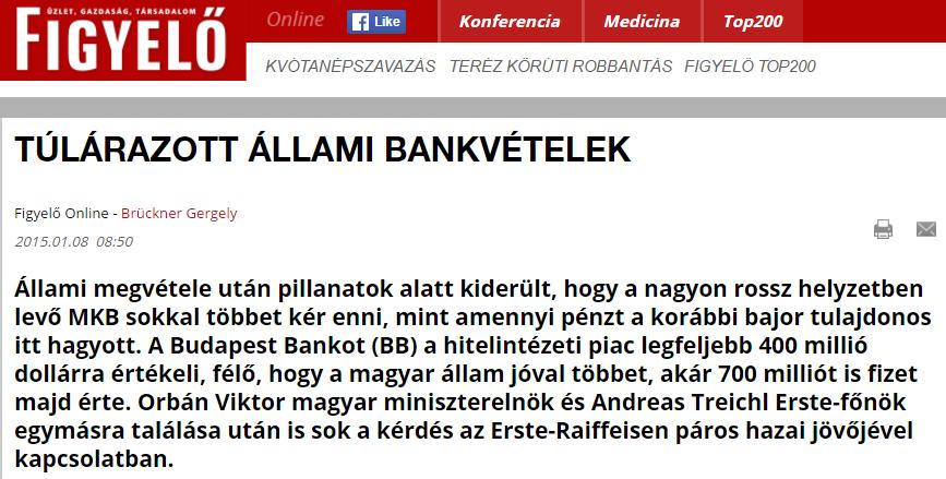 A Figyelő megírta, hogy masszívan veszteséges az MKB, Matolcsyék erre beperelték a lapot üzleti titok megsértése miatt