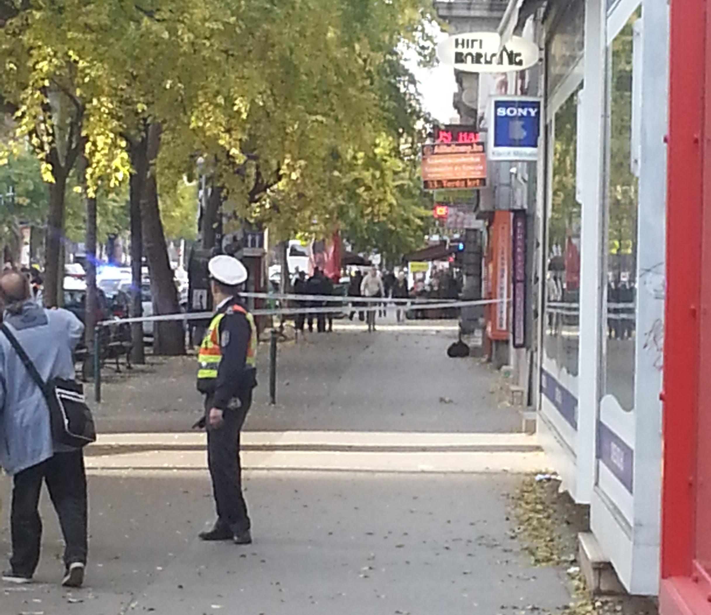 Táskát találtak a rendőrök a Teréz körúton