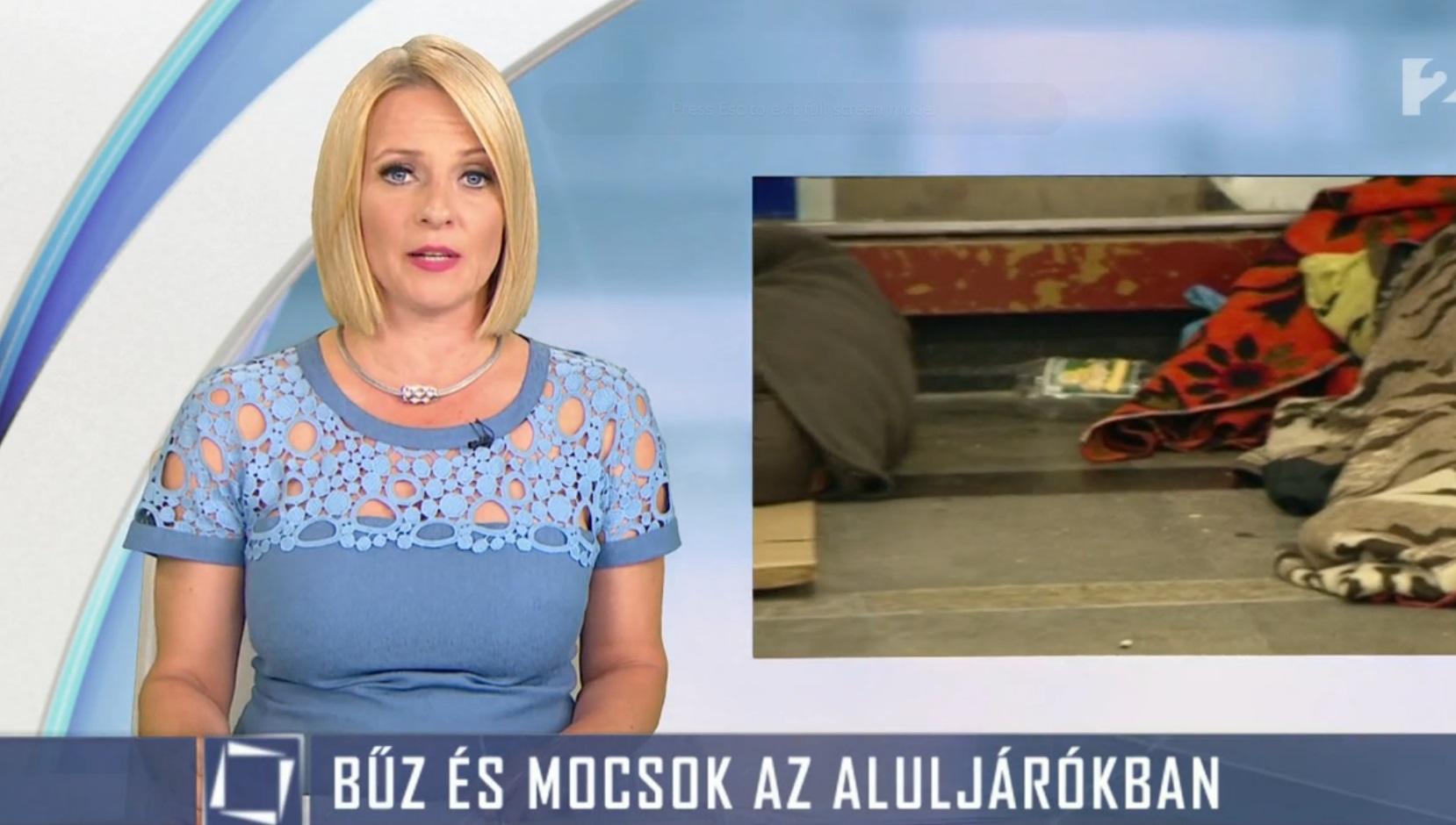 A hajléktalanokat választotta új főellenségnek a TV2 híradója